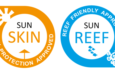 SUNSKIN and SUNREEF labels for sunscreen products