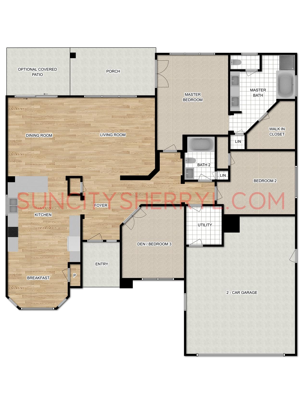 Free Virtual Room Layout Planner: Sun City Hilton Head Floor Plan Augusta / Revere