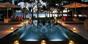 The Infinity Pool At Twilight, Contines To Be Magical - Dolphin Island Fiji