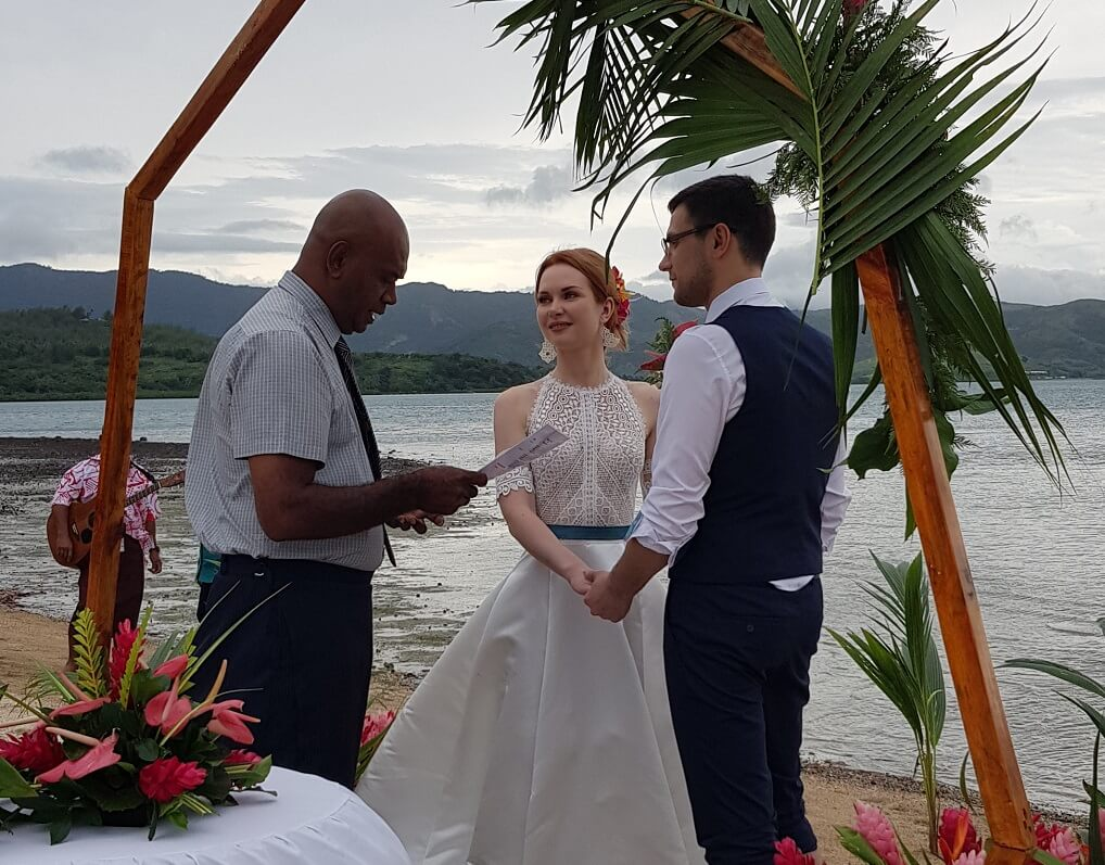 Another Beautiful Island Wedding at Wananavu Beach Resort