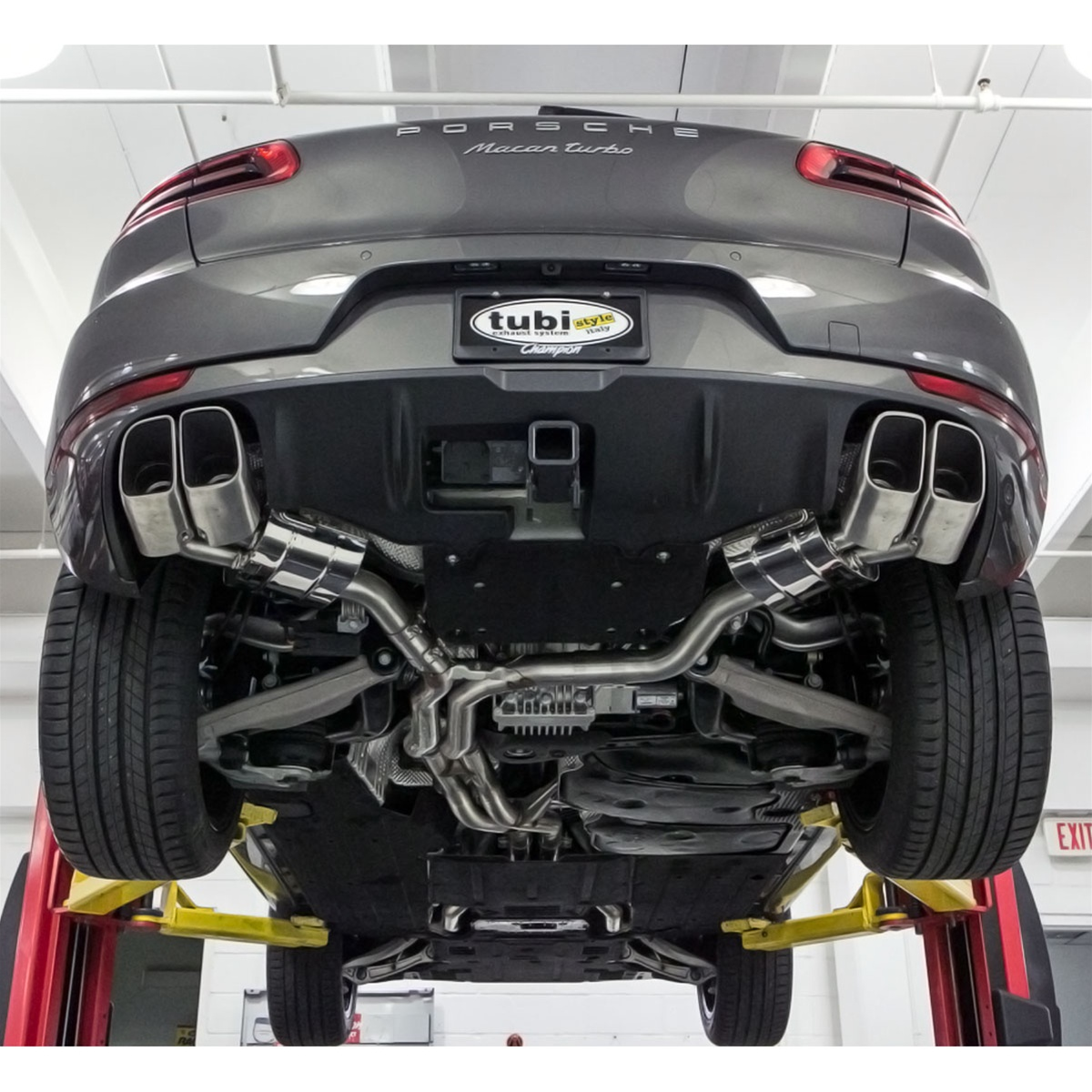 tubi exhaust system macan turbo