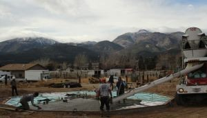 Insulated concrete slab-Haven home