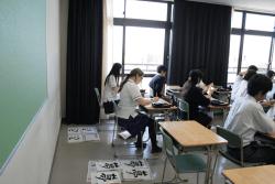 ホームステイ中の生徒が駿高に1日登校しました