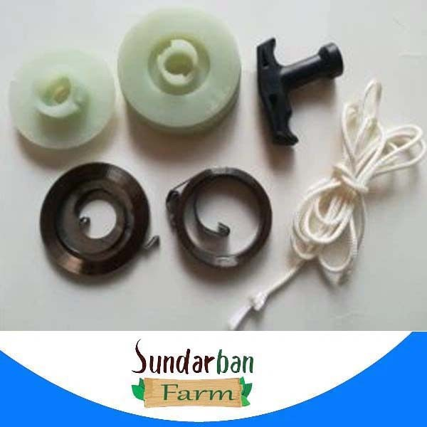 Chainsaw Easy Starter Pulley Recoil Spring with Handle grip and rope for Chinese Chain Saw 4500 5200 5800 45CC 52CC 58CC