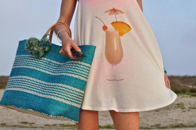 Mar y Sol Beach Bag Wildfox Pina Colada Cover Up