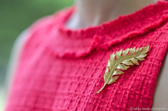 Gold Pin, Kate Spade Terri Dress