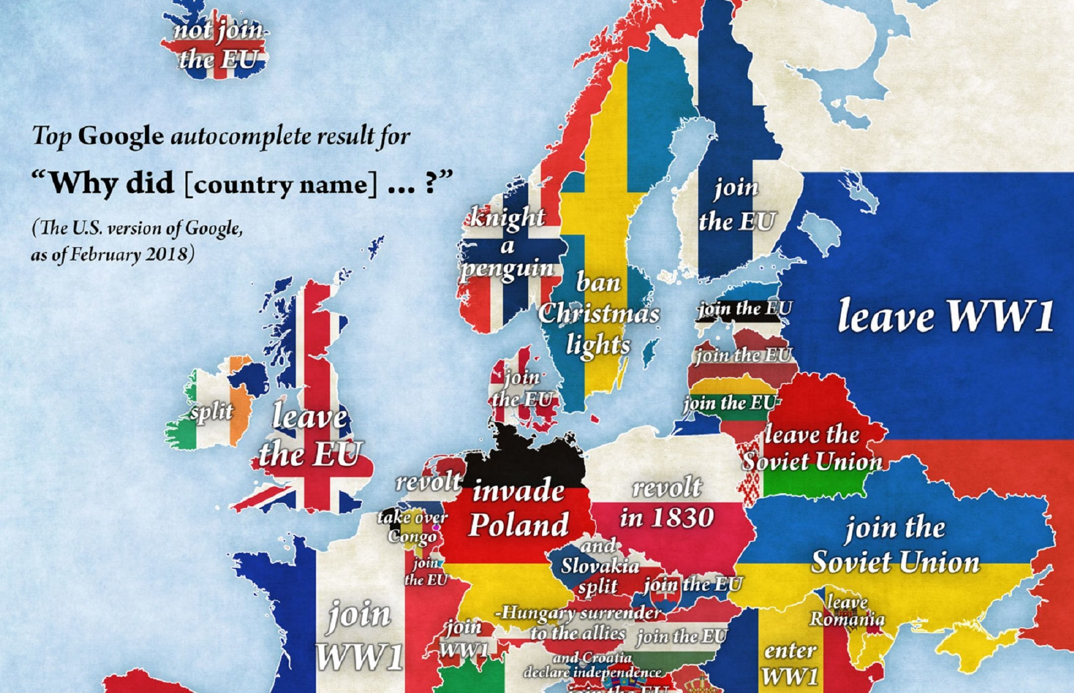 Autocomplete Map Of Europe Reveals Most Searched