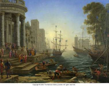 Seaport with the Embarkation of Saint Ursula - Claude