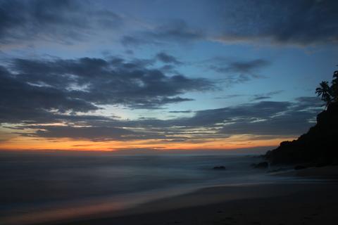 Sundeep's last sunset in Varkala