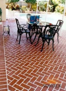 stamped concrete patterns flagstone