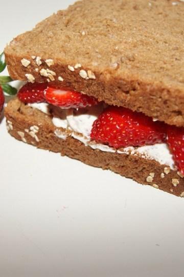 Jordbær sandwich
