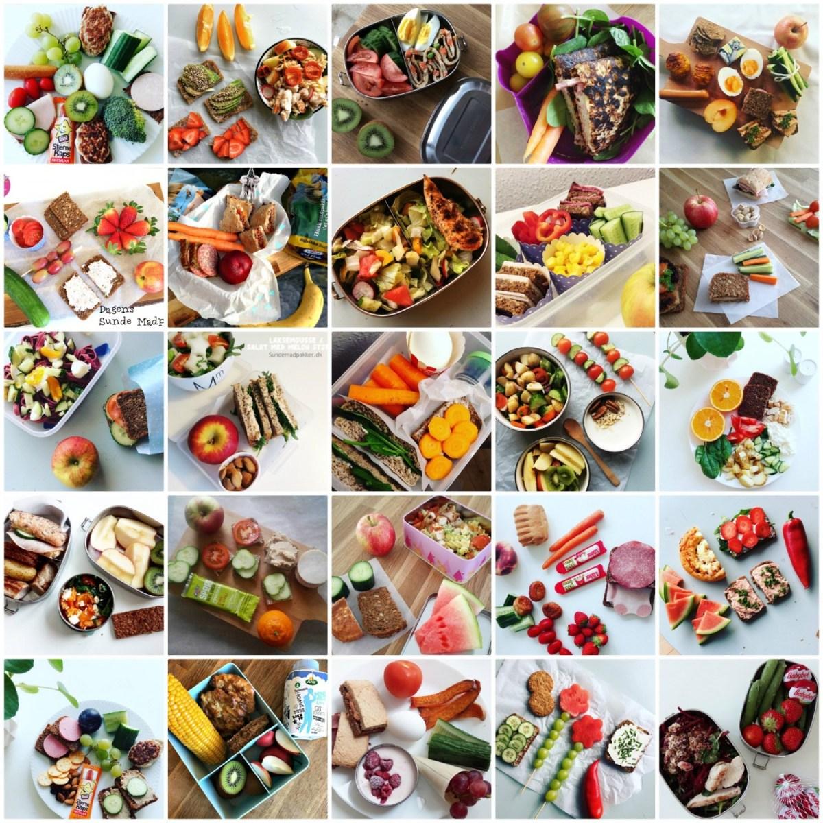 Madpakker til børn - 25 forskellige madpakker