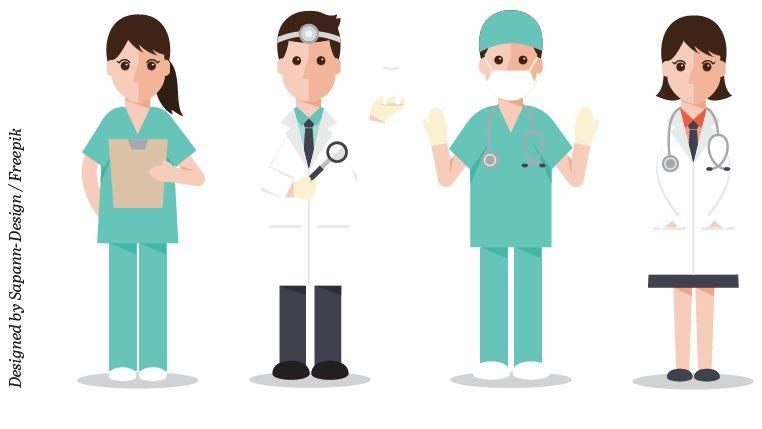Sygehusmode: netundertrøjer og pink stetoskoper