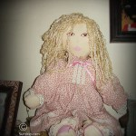 Amanda in Pink rag doll - SOLD