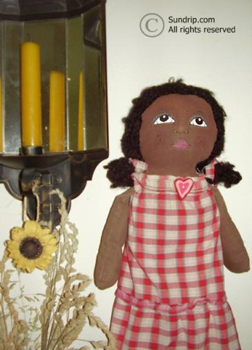 Wendy African American Bag Holder Doll