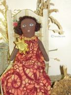 May Bell  Sunflower African American Folk Art Doll