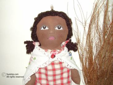 Wendy African American Plastic Bag Holder Doll