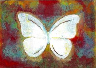 Fire White Butterfly - Redbubble