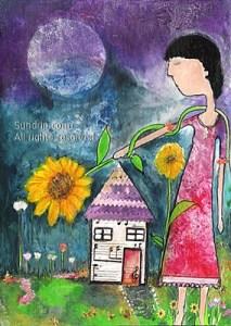 Sunflowers Bless My Home fma