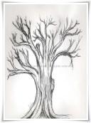 night time tree sketch