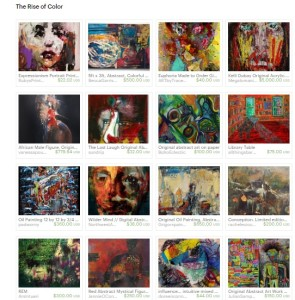 The Rise of Color treasury Etsy