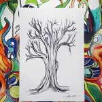 Original Tree Art in Ink