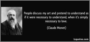 Monet Moved to Love
