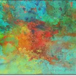 Abstract Encaustic Fire - available