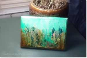 turquoise wooden tile
