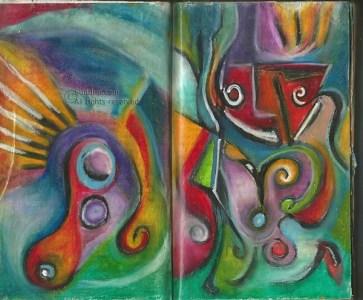 art journal oil stick fma