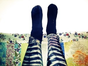 Of course I have wild sock combos. I'm an artist.