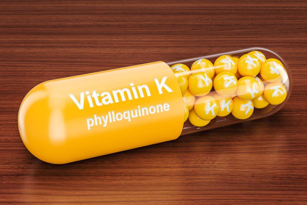 Cápsula de vitamina K.