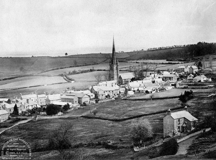 A View Of Ruardean Village Gloucestershire From Around 1900