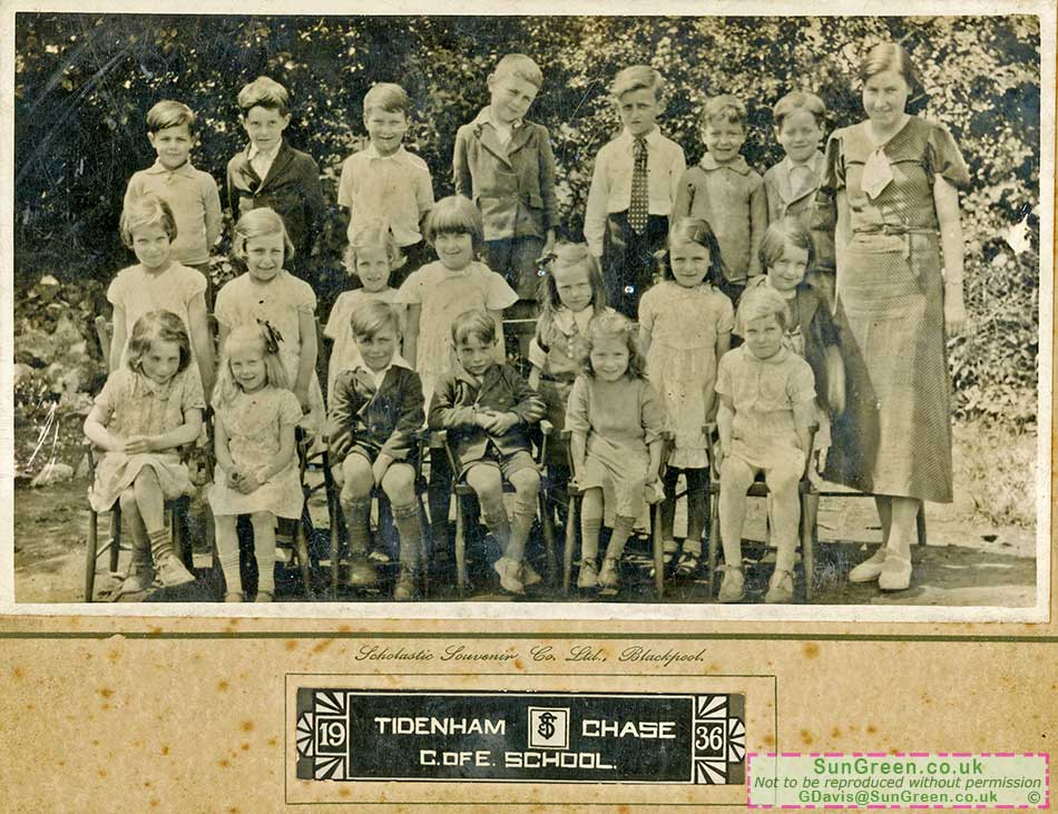 A photo of pupils at Tidenham Chase school in 1936