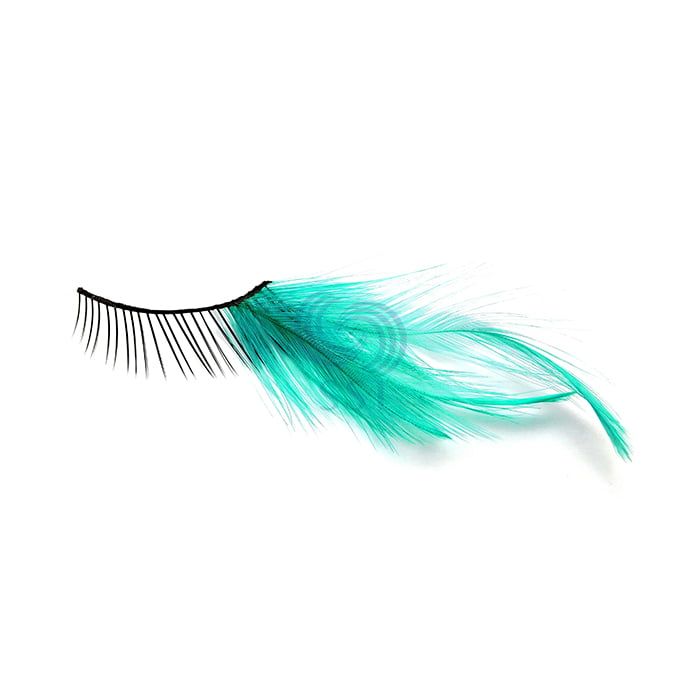 FEATHER GREEN LASHES
