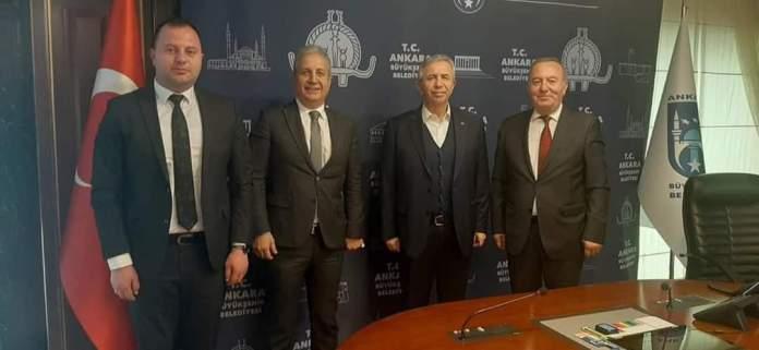 Sungurlu Belediye Başkanı Abdulkadir Şahiner, Ankara Büyükşehir Belediye Başkanı Mansur Yavaş'ı ziyaret ederek, Sungurlu halkının taleplerini iletti.