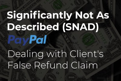 Dealing with client's false refund claim