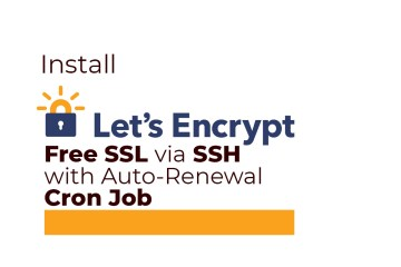 Install Let's Encrypt Free SSL via SSH with Auto-Renewal Cron Job