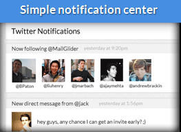 Notification Center - Glider