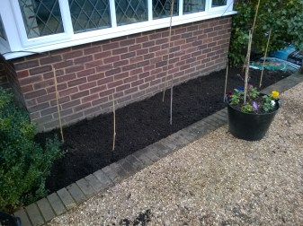Front Bay Border Ready for Planting