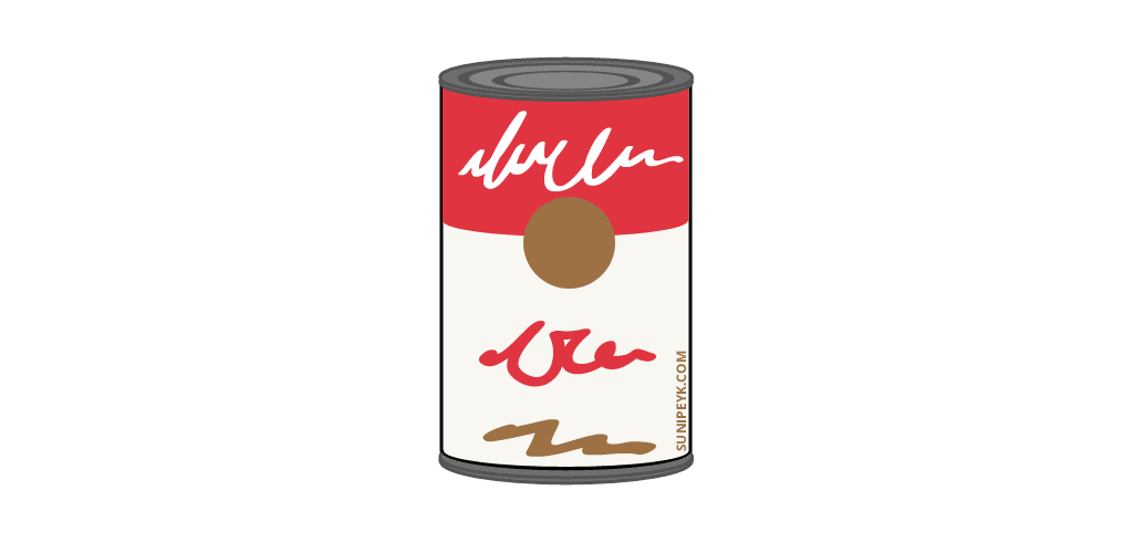 warhol soup can icon