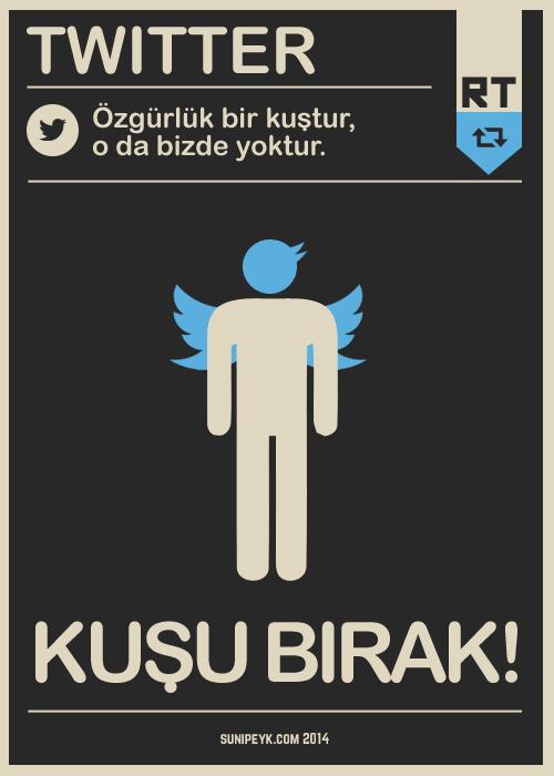 twitter sansürü posteri