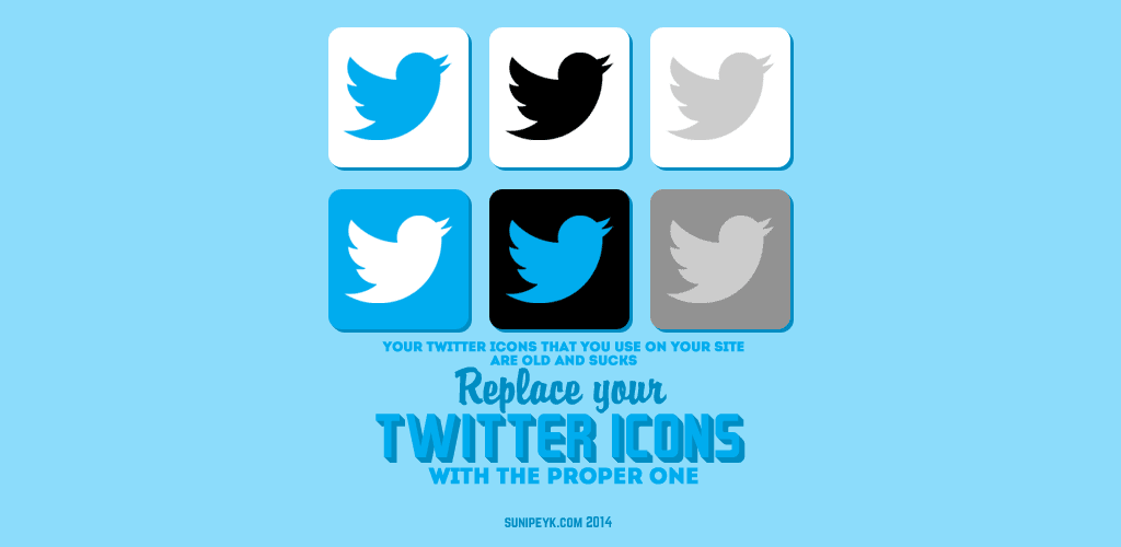 replace twitter icons