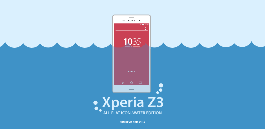 xperia z3 ikonu suyun içinde