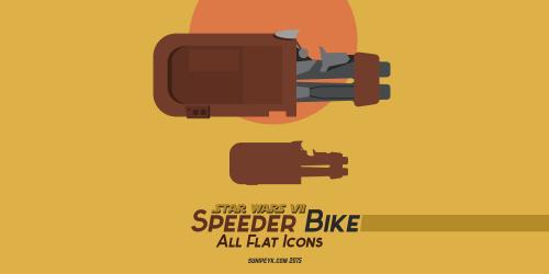 Speeder bike icons