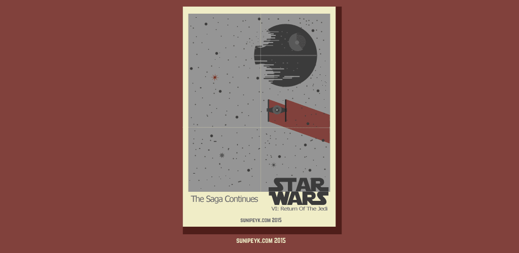 Star Wars Return of the Jedi poster