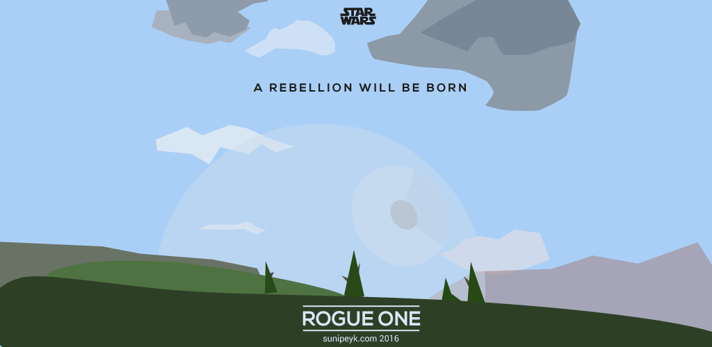 Rebellion A Rogue One Poster
