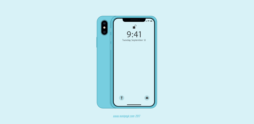 blue iPhone X