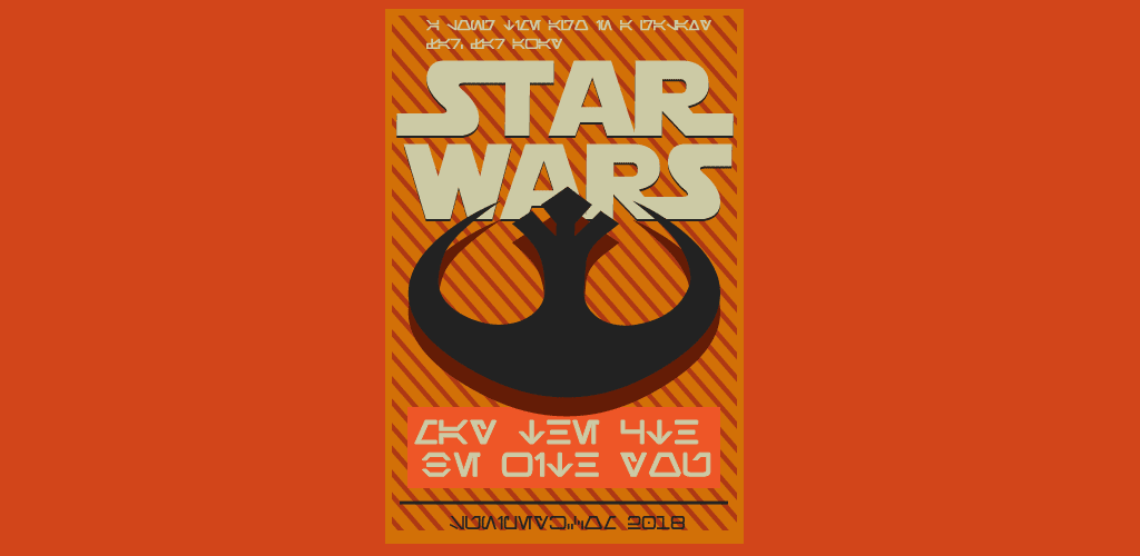 May the 4th be with you, aurebesh dilinde poster