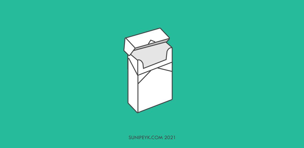 boş bir sigara paketi ikonu